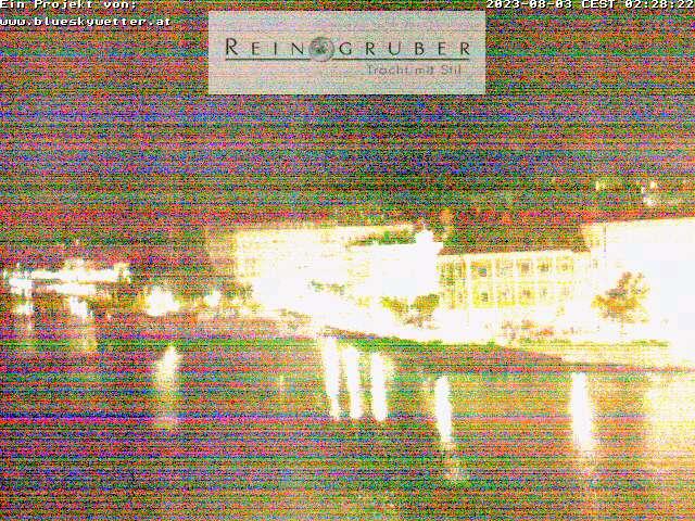 Webcam Gmunden auf dem Dach vom Trachtenhaus Reingruber